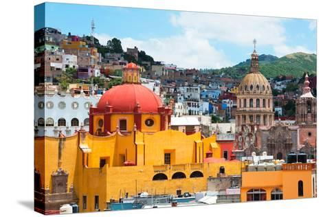 ¡Viva Mexico! Collection - Guanajuato - Church Domes-Philippe Hugonnard-Stretched Canvas Print