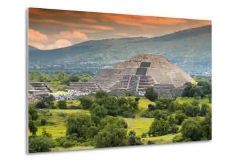 ?Viva Mexico! Collection - Pyramid of the Sun - Teotihuacan-Philippe Hugonnard-Metal Print
