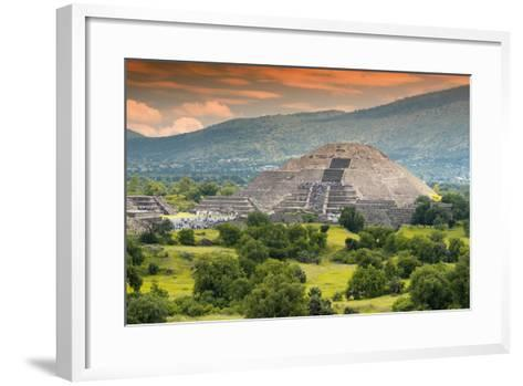 ?Viva Mexico! Collection - Pyramid of the Sun - Teotihuacan-Philippe Hugonnard-Framed Art Print