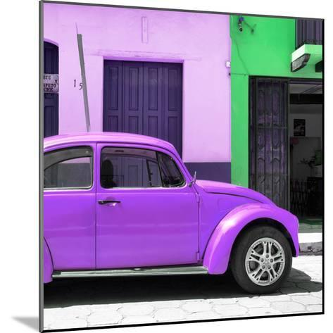 "¡Viva Mexico! Square Collection - ""15 Street"" Purple VW Beetle Car-Philippe Hugonnard-Mounted Photographic Print"