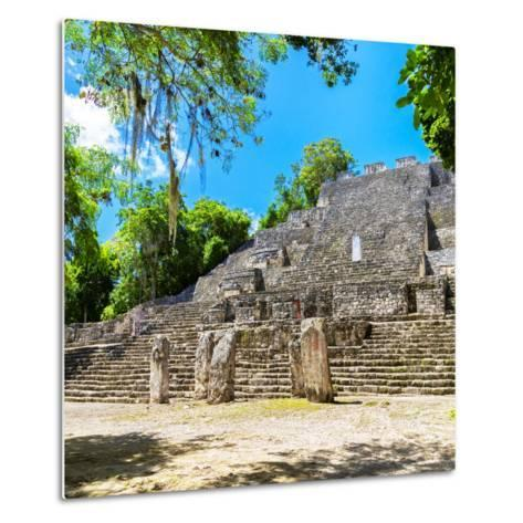 ¡Viva Mexico! Square Collection - Ruins of the ancient Mayan City of Calakmul II-Philippe Hugonnard-Metal Print