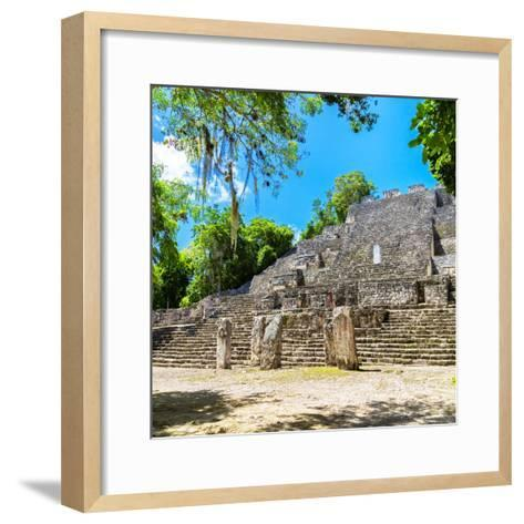 ¡Viva Mexico! Square Collection - Ruins of the ancient Mayan City of Calakmul II-Philippe Hugonnard-Framed Art Print