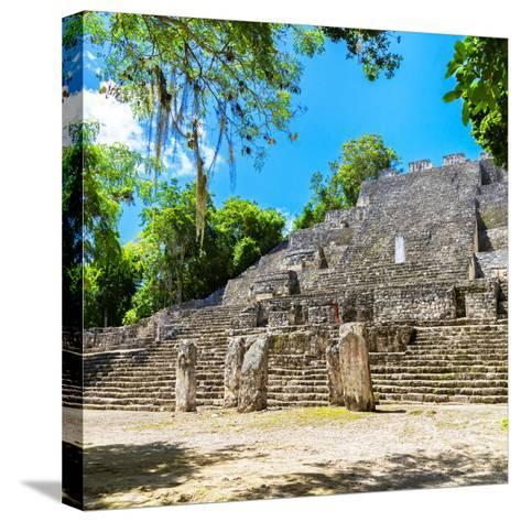 ¡Viva Mexico! Square Collection - Ruins of the ancient Mayan City of Calakmul II-Philippe Hugonnard-Stretched Canvas Print