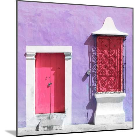 "¡Viva Mexico! Square Collection - ""172 Street"" Pink & Mauve-Philippe Hugonnard-Mounted Photographic Print"