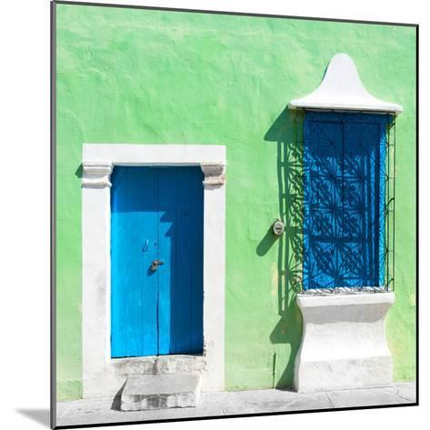 """¡Viva Mexico! Square Collection - """"172 Street"""" Blue & Green-Philippe Hugonnard-Mounted Photographic Print"""