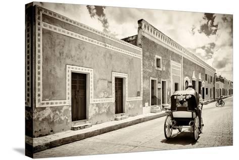 ¡Viva Mexico! B&W Collection - Izamal the Yellow City-Philippe Hugonnard-Stretched Canvas Print