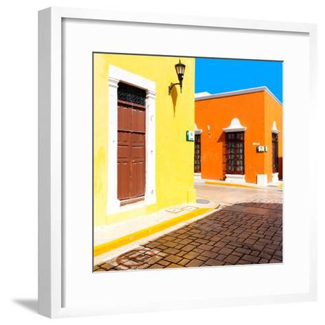 ¡Viva Mexico! Square Collection - Street of the Sun-Philippe Hugonnard-Framed Art Print