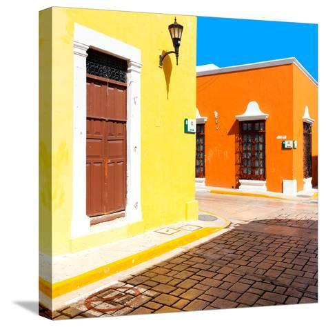 ¡Viva Mexico! Square Collection - Street of the Sun-Philippe Hugonnard-Stretched Canvas Print