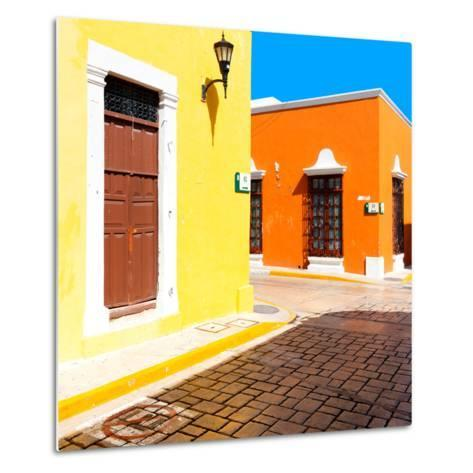 ¡Viva Mexico! Square Collection - Street of the Sun-Philippe Hugonnard-Metal Print