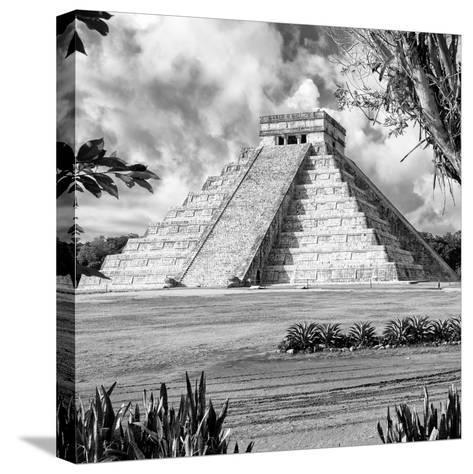 ¡Viva Mexico! Square Collection - El Castillo Pyramid - Chichen Itza XIV-Philippe Hugonnard-Stretched Canvas Print
