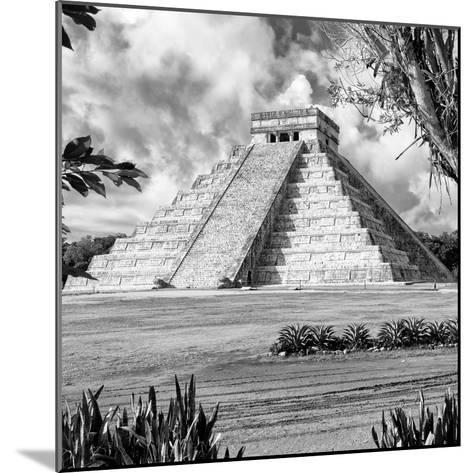 ¡Viva Mexico! Square Collection - El Castillo Pyramid - Chichen Itza XIV-Philippe Hugonnard-Mounted Photographic Print
