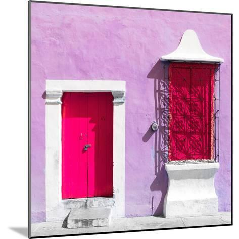 """¡Viva Mexico! Square Collection - """"172 Street"""" Deep Pink & Mauve-Philippe Hugonnard-Mounted Photographic Print"""