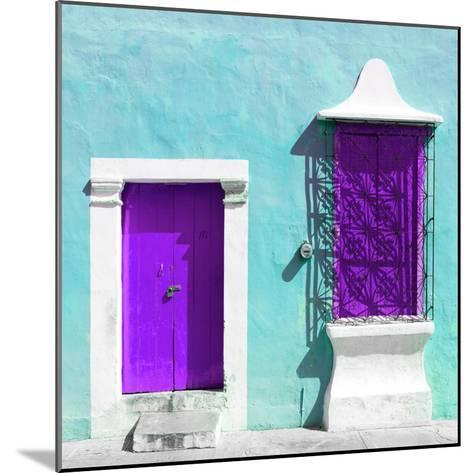 """¡Viva Mexico! Square Collection - """"172 Street"""" Purple & Turquoise-Philippe Hugonnard-Mounted Photographic Print"""