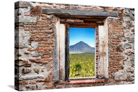 ?Viva Mexico! Window View - Mexican Desert-Philippe Hugonnard-Stretched Canvas Print