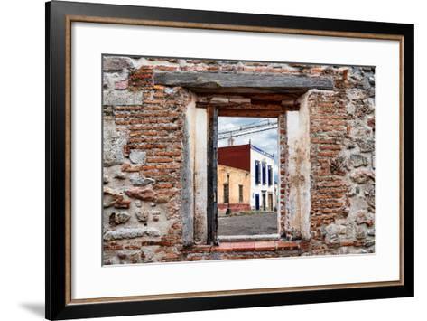 ¡Viva Mexico! Window View - Mexican Street-Philippe Hugonnard-Framed Art Print