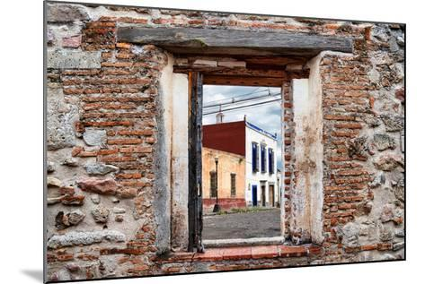 ¡Viva Mexico! Window View - Mexican Street-Philippe Hugonnard-Mounted Photographic Print