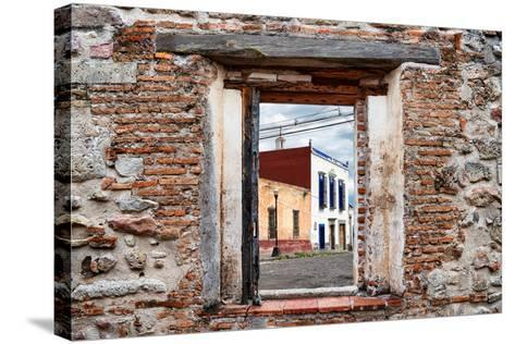¡Viva Mexico! Window View - Mexican Street-Philippe Hugonnard-Stretched Canvas Print