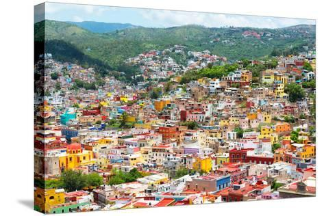 ¡Viva Mexico! Collection - Guanajuato - Colorful City-Philippe Hugonnard-Stretched Canvas Print