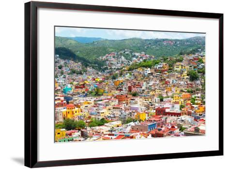 ¡Viva Mexico! Collection - Guanajuato - Colorful City-Philippe Hugonnard-Framed Art Print