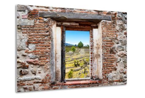 ?Viva Mexico! Window View - Pyramid of Cantona III-Philippe Hugonnard-Metal Print