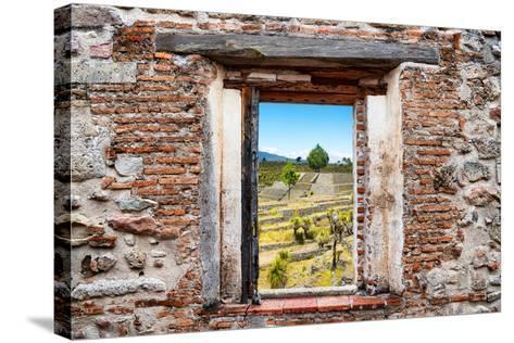 ?Viva Mexico! Window View - Pyramid of Cantona III-Philippe Hugonnard-Stretched Canvas Print