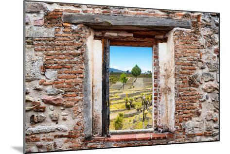 ?Viva Mexico! Window View - Pyramid of Cantona III-Philippe Hugonnard-Mounted Photographic Print
