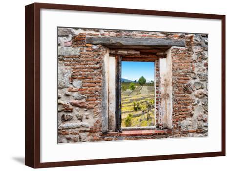 ?Viva Mexico! Window View - Pyramid of Cantona III-Philippe Hugonnard-Framed Art Print