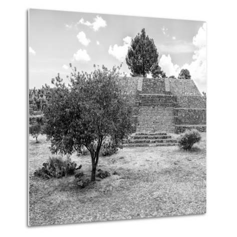 ¡Viva Mexico! Square Collection - Pyramid of Cantona I-Philippe Hugonnard-Metal Print