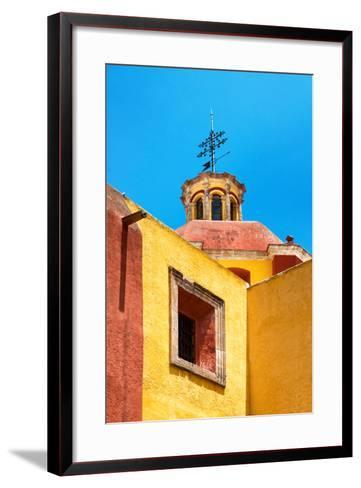 ¡Viva Mexico! Collection - Yellow Church - Guanajuato-Philippe Hugonnard-Framed Art Print