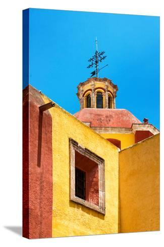 ¡Viva Mexico! Collection - Yellow Church - Guanajuato-Philippe Hugonnard-Stretched Canvas Print