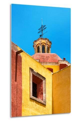 ¡Viva Mexico! Collection - Yellow Church - Guanajuato-Philippe Hugonnard-Metal Print