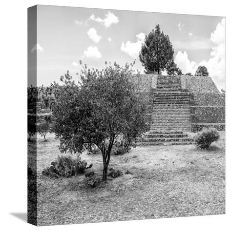 ¡Viva Mexico! Square Collection - Pyramid of Cantona I-Philippe Hugonnard-Stretched Canvas Print