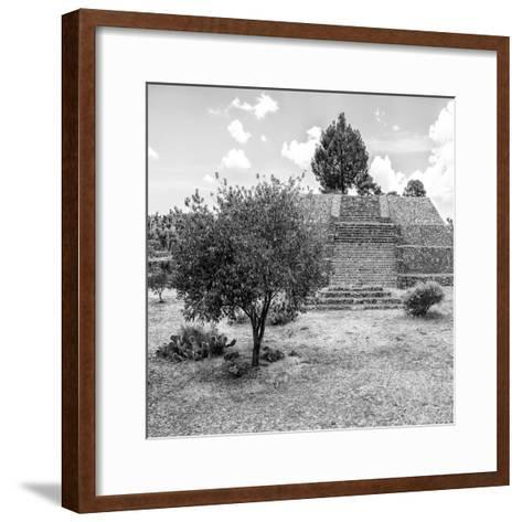 ¡Viva Mexico! Square Collection - Pyramid of Cantona I-Philippe Hugonnard-Framed Art Print
