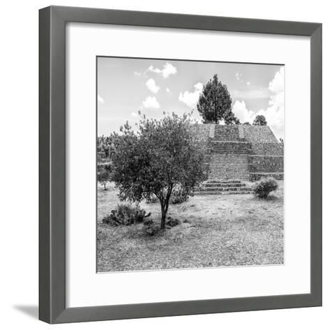 ¡Viva Mexico! Square Collection - Pyramid of Cantona I-Philippe Hugonnard-Framed Art Print