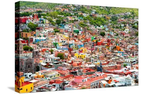 ¡Viva Mexico! Collection - Guanajuato - Colorful City III-Philippe Hugonnard-Stretched Canvas Print