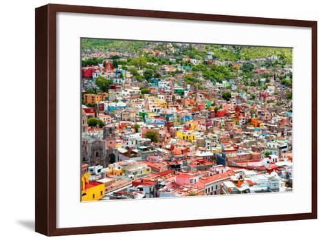 ¡Viva Mexico! Collection - Guanajuato - Colorful City III-Philippe Hugonnard-Framed Art Print