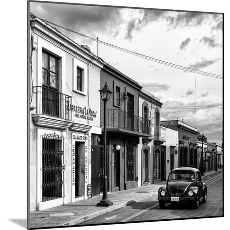 ¡Viva Mexico! Square Collection - Colorful Facades and Black VW Beetle Car VI-Philippe Hugonnard-Mounted Photographic Print