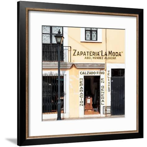 ¡Viva Mexico! Square Collection - Zapateria La Moda-Philippe Hugonnard-Framed Art Print
