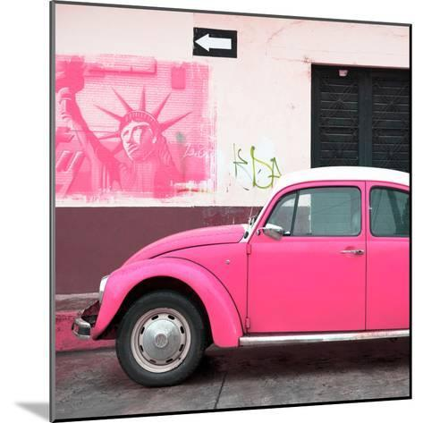 ¡Viva Mexico! Square Collection - Pink VW Beetle Car and American Graffiti-Philippe Hugonnard-Mounted Photographic Print