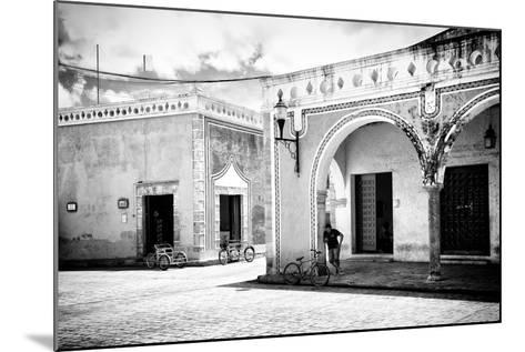 ¡Viva Mexico! B&W Collection - Urban Scene in Izamal II-Philippe Hugonnard-Mounted Photographic Print