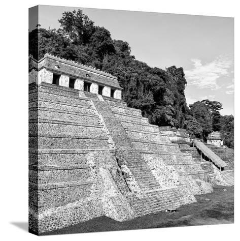 ¡Viva Mexico! Square Collection - Mayan Temple of Inscriptions in Palenque X-Philippe Hugonnard-Stretched Canvas Print