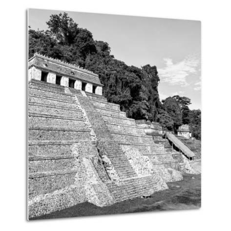 ¡Viva Mexico! Square Collection - Mayan Temple of Inscriptions in Palenque X-Philippe Hugonnard-Metal Print