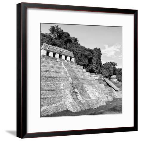 ¡Viva Mexico! Square Collection - Mayan Temple of Inscriptions in Palenque X-Philippe Hugonnard-Framed Art Print