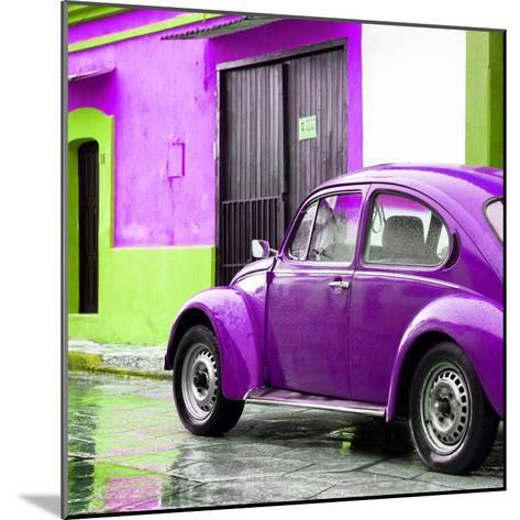 ¡Viva Mexico! Square Collection - VW Beetle and Purple Wall II-Philippe Hugonnard-Mounted Photographic Print