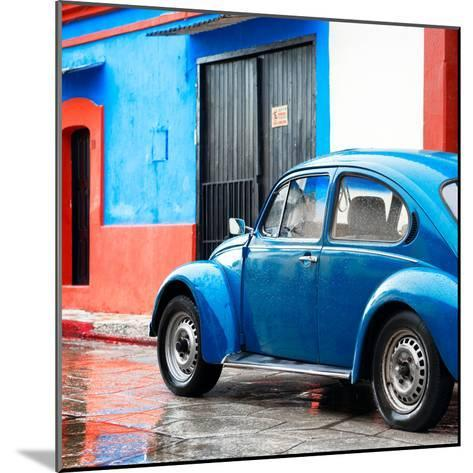 ¡Viva Mexico! Square Collection - VW Beetle and Blue Wall II-Philippe Hugonnard-Mounted Photographic Print