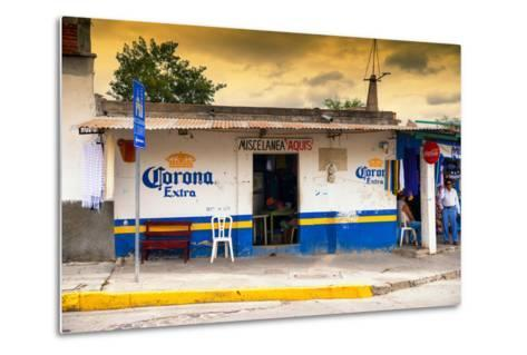 ?Viva Mexico! Collection - Traditional Store at Sunset-Philippe Hugonnard-Metal Print