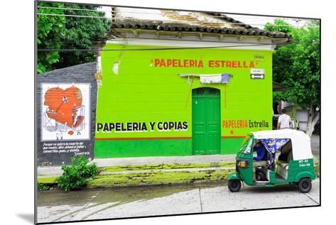 "¡Viva Mexico! Collection - Green ""Estrella""-Philippe Hugonnard-Mounted Photographic Print"