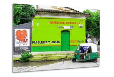 "¡Viva Mexico! Collection - Green ""Estrella""-Philippe Hugonnard-Metal Print"