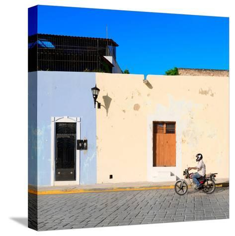 ¡Viva Mexico! Square Collection - Motorbike Ride in Campeche-Philippe Hugonnard-Stretched Canvas Print