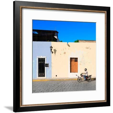 ¡Viva Mexico! Square Collection - Motorbike Ride in Campeche-Philippe Hugonnard-Framed Art Print